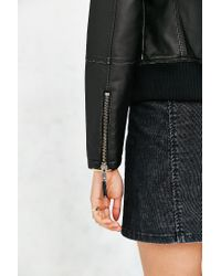 Members Only - Black Vegan Leather Jacket - Lyst