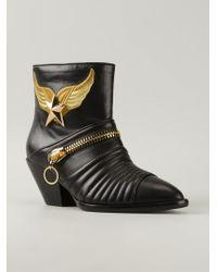 Giuseppe Zanotti - Black Star Ankle Boots - Lyst