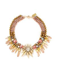 Assad Mounser - Metallic 'hercules' Mineral Crystal Spike Collar Necklace - Lyst