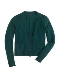 J.Crew - Green Collection Cashmere Vneck Cardigan - Lyst
