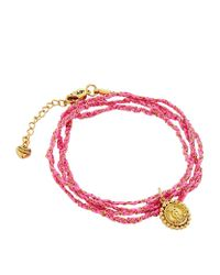 Juicy Couture | Red Woven Cord Wrap Bracelet | Lyst