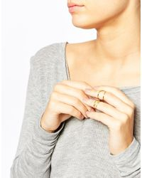 Gorjana - Metallic Gold Plated Wrap Midi Ring Set - Lyst