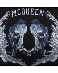 Alexander McQueen - Blue Embroidered Bird Sweatshirt for Men - Lyst
