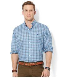 Polo Ralph Lauren - Blue Plaid Oxford Shirt for Men - Lyst