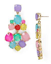 kate spade new york - Multicolor Chandelier Earrings - Lyst