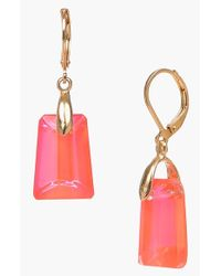 Dabby Reid | Pink 'kylie' Drop Earrings - Coral | Lyst