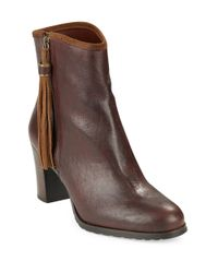 Lauren by Ralph Lauren | Brown Carah Leather Ankle Boots | Lyst