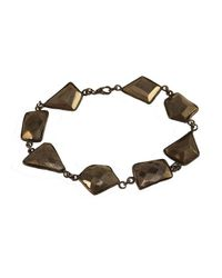 Adornia - Metallic Sterling Silver And Pyrite Sienna Bracelet - Lyst