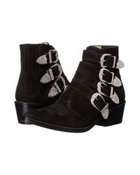 Toga Pulla | Black TP22-AJ006 Leather Ankle Boots | Lyst