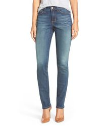 NYDJ - Blue 'samantha' Stretch Slim Straight Leg Jeans - Lyst