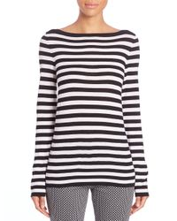Michael Kors - Multicolor Striped Merino Wool Boatneck Tee - Lyst