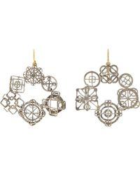 Judy Geib - Metallic Wheel Hoop Earrings - Lyst
