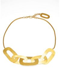 Herve Van Der Straeten | Metallic Hammered Link Necklace | Lyst