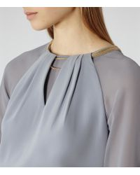 Reiss | Purple Vista Neckline-detail Top | Lyst