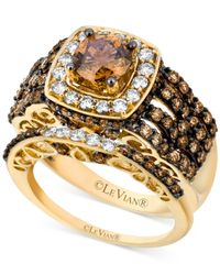 Le Vian - Brown Chocolate And White Diamond Engagement Ring Set (2-5/8 Ct. T.w.) In 14k Gold - Lyst