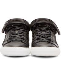 Pierre Hardy | Black Striped La Tennis Sneakers | Lyst