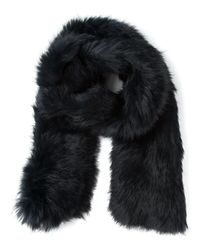 Yves Salomon - Blue Fur Scarf - Lyst