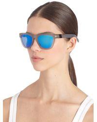 Westward Leaning - Mercury Seven Square Acetate Sunglasses/Grey & Blue - Lyst