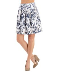Moon Collection - Blue You Better Be-leaf Skirt - Lyst