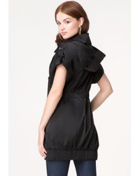 Bebe - Black Sleeveless Trench Coat - Lyst
