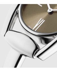 Gucci - Gray Horsebit Bracelet Stainless Steel Watch for Men - Lyst