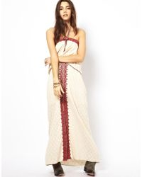 Free People | White Maxi Dress in Floral Jacquard | Lyst