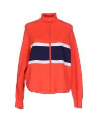 Jil Sander Navy | Orange Cardigan | Lyst