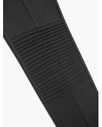 Mango   Black Decorative Seam Leggings   Lyst