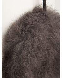 Meteo by Yves Salomon - Gray Ear Muffs - Lyst