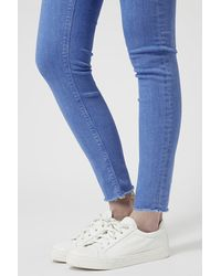 TOPSHOP | Moto Bright Blue Jamie Jeans | Lyst
