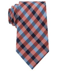 Tommy Hilfiger | Orange Gingham Tie for Men | Lyst