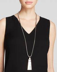 "Lafayette 148 New York - Metallic Drop Mirror Pendant Necklace, 35"" - Lyst"