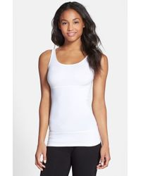 Yummie By Heather Thomson - White 'pearl' Tri-panel Smoother Tank - Lyst