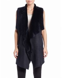 Lafayette 148 New York | Blue Carolina Oversized Shearling Vest | Lyst