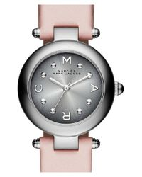 Marc By Marc Jacobs | Pink 'dotty' Leather Strap Watch | Lyst