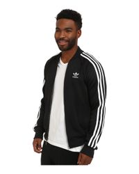 Adidas Originals - Black Superstar Track Top for Men - Lyst