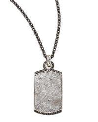 John Hardy | Men's Bedeg Black Sapphire Cross Dog Tag Necklace for Men | Lyst