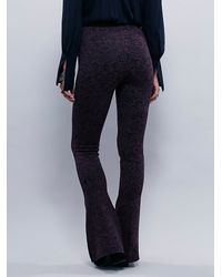 Free People | Purple Ava Babybell Jacquard Legging | Lyst