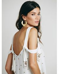 Free People | White Sensual Embroidered Drippy Tank | Lyst