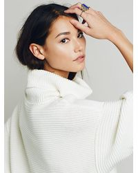 Free People - Natural Boxy Turtleneck Pullover - Lyst