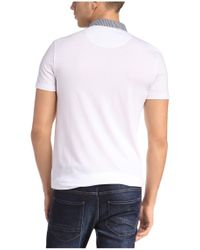 BOSS Orange - White Polo Shirt 'palisado' With Contrasting Trim for Men - Lyst