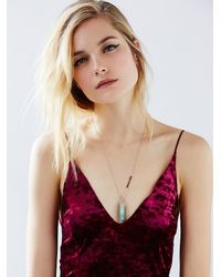 Free People | Blue Samantha Wills Womens Mineral Pendant | Lyst
