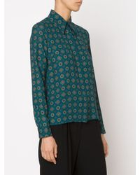 Michael Kors | Blue Classic Silk Shirt | Lyst