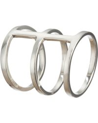 Loren Stewart | Metallic Silver Triple-Band Cage Ring | Lyst
