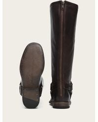 Frye - Brown Phillip Harness Tall Wide - Lyst