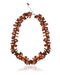 Lord & Taylor - Red Carnelian And Sterling Silver Fragment Necklace for Men - Lyst