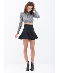 Forever 21 - Black Fluted Mini Skirt - Lyst