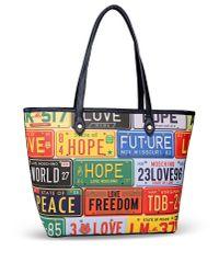 Love Moschino - Yellow Large Fabric Bag - Lyst