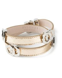 BVLGARI | Metallic Double Coiled Bracelet | Lyst