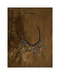 Denim & Supply Ralph Lauren - Black Bohemian Lapis Stone Necklace - Lyst